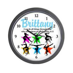 UPLIFTING GYMNAST Wall Clock http://www.cafepress.com/sportsstar  #Gymnast  #IloveGymnastics   #WomensGymnastics  #Gymnastgift #Personalizedgymnast #Customgymnast #Gymnasticsideas #Gymnastics