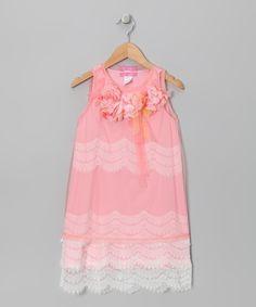 Pink Antoinette Lace Dress - Infant, Toddler & Girls