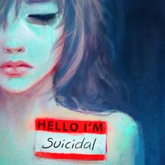 Destiny Blue creates mental health art that details her struggles with depression and suicide. The images offer a lifeline to others in the same pain. Depression Artwork, Depression Illustration, Mental Health Art, Deep Meaning, Sad Art, Mystique, Emotion, Feeling Sad, Anime Characters