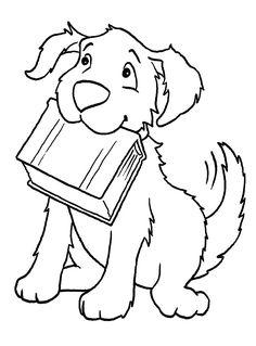 Dibujo para colorear de perros (nº 8)