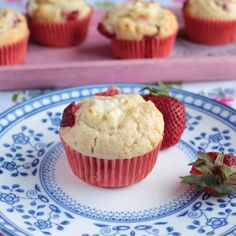 Strawberry Cream Cheese Muffins - Yeah, they do taste as delicious as they sound.