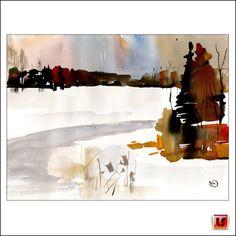 UNIKAT ♥ Yuliy Rahozin ♥SKIZZE Aquarell 24x32 ♥Stadt Landschaft Winter ♥LS*a1905 | Antiquitäten & Kunst, Kunst, Aquarelle | eBay!