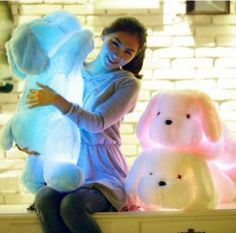 New Big Size Length Creative Night Light LED Lovely Dog Stuffed Plush Toys Best Gifts for Kids Friends Juguetes Brinquedo Cool Gifts For Kids, Christmas Gifts For Kids, Toys For Girls, Kids Toys, Girls 4, Boys, Kids Birthday Gifts, Christmas Birthday, Girl Birthday