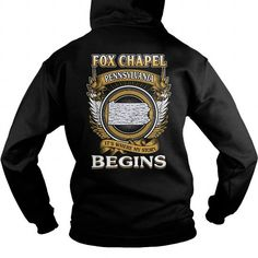This is a great gift for Fox lovers  FOX CHAPEL Tee Shirts T-Shirts