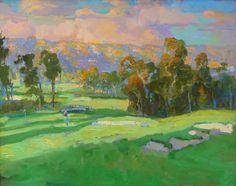 """American Legacy Fine Arts presents """"Summer Clouds"""" a painting by Peter Adams."""