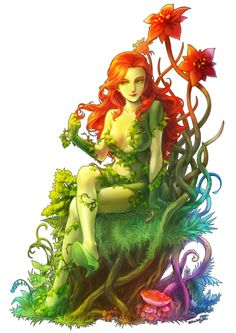 Poison Ivy, one of the lamest villains with the coolest fan art! xD