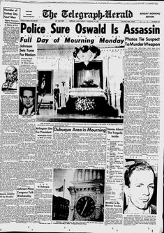 News from 1963 covering the day President Kennedy was assassinated