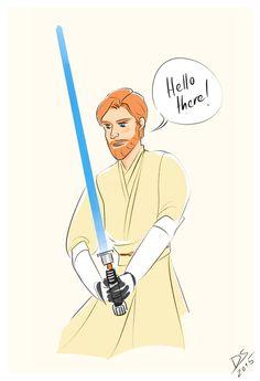 Obi-Wan Kenobi fanart by dyingsighs