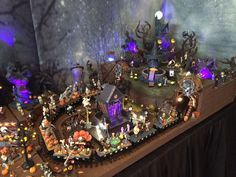 Nightmare Before Christmas Village using bases from Department 56 ...