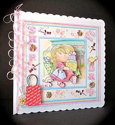 SHOP TIL YOU DROP 8x8 Mini Kit Decoupage on Craftsuprint designed by Janet Briggs - made by Cynthia Massey