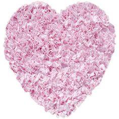 The Rug Market Shaggy Raggy Heart Pink Heart Area Rug, Size 3' x 3'