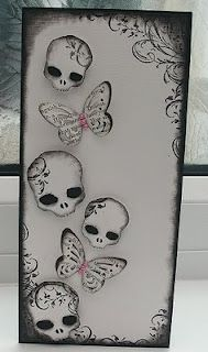 Cricut - Indie Arts - butterfly and skeleton book mark / tag. crafts-journals-books-altered-books