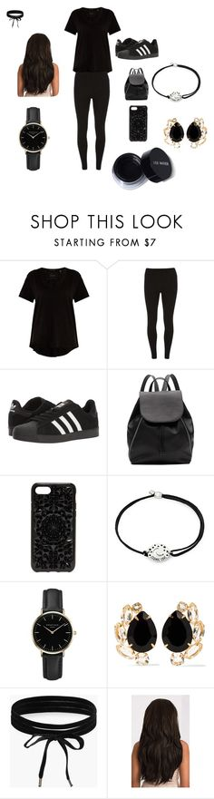 """""""Rumer Noel's black choreography of thats what i like"""" by fayela ❤ liked on Polyvore featuring ATM by Anthony Thomas Melillo, Dorothy Perkins, adidas, Witchery, Felony Case, Alex and Ani, ROSEFIELD, Bounkit and Boohoo"""
