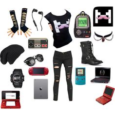 Markiplier outfit 1 by sparkyeve on Polyvore featuring Frame Denim, Sole Society, Sprayground, G-Shock, On Your Case, Skullcandy and Nintendo
