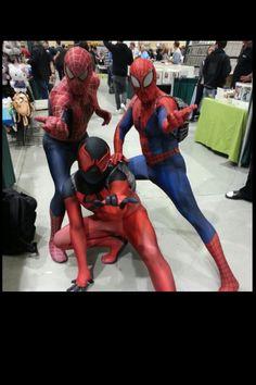 Spidey & Scarlet Spider cosplay