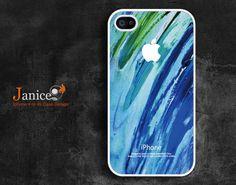 iphone accessories iphone 4 white case iphone case iphone 4s case iphone 4 cover abstract  blue spoondrift  unique Iphone case. $13.99, via Etsy.