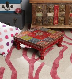 Hand Painted Stools, Wooden Footstool, Wood Design, Puja Room, Jodhpur, House Warming, Solid Wood, Decorative Boxes, Wedding Favors