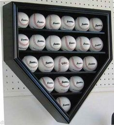 find one to hold softballs and have each girl sign a ball from her team her sr season. Baseball Crafts, Baseball Party, Baseball Season, Baseball Mom, Softball, Baseball Stuff, Baseball Jewelry, Baseball Wall, Travel Baseball