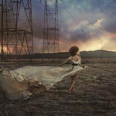 Desert Dream by Brooke Shaden Desert Dream, Fine Art Photography, Whimsical Photography, Conceptual Photography, Inspiring Photography, Portrait Photography, Fashion Photography, Pink Sky, Travel Themes