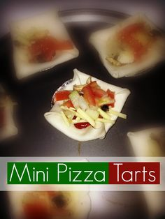 Mini Pizza Tarts - Great as an entree or snack, or even as a main meal.