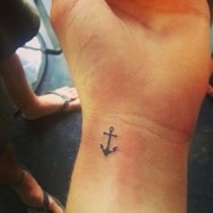 Mini Anchor Tattoo on Wrist