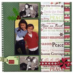 christmas layout- 3 pic