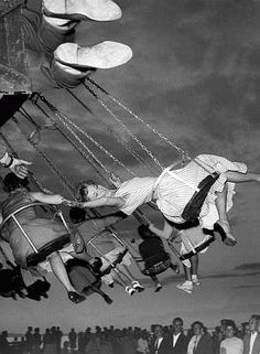 I always loved the swings at amusement parks....and the tilt a whirl....and the swinging boats that go side to side....and the..