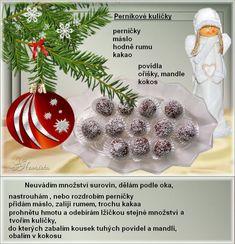 Christmas Baking, Christmas Cookies, Christmas Bulbs, Christmas Recipes, Czech Recipes, Food And Drink, Holiday Decor, Sweet, Blog