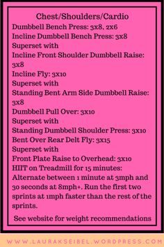 Chest + Shoulders + Cardio Workout
