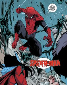 """Spidey in Journey Into Mystery #648 """"Strong Than Monster III"""" (2013) - Valerio Schiti, Color - Jordie Bellaire"""