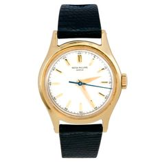 PATEK PHILIPPE Rare Yellow Gold Ref 565 with Center Seconds circa 1950s