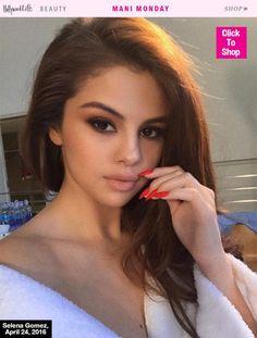 Mani Monday Selena Gomezs Red Hot Mani Get Her Sexy Nail Polish