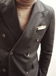 CESPINS❤Man in Pink | Brown Double-Breasted Blazer