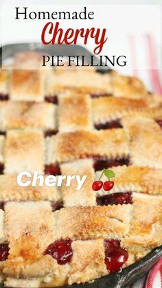 Cherry Desserts, Cherry Recipes, Lemon Recipes, Tart Recipes, Homemade Cherry Pies, Homemade Pie, Pie Dessert, Dessert Recipes, Good Pie