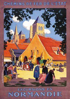 ✨  Pierre Ladureau  - Excursions en Normandie - St. Pierre sur Dives - Chemins de fer de l'Etat, ca.1925