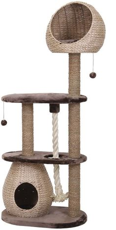 The BARELI Cat Tree is a luxury cat scratcher made from water hyacinth! A truly stunning piece of kitty furniture! In many cultures, water hyacinth is a firm part of daily life. The BARELI Cat Tree has been made to the highest quality workmanship and will look simply stunning in your home. The unique character of The BARELI Cat Tree gives the entire collection of wicker furniture for cats a truly special charm that should not be denied to your feline friend! Your cat will be able to play…