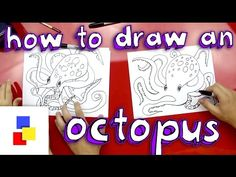How To Draw An Octopus - Art for Kids Hub (Lesson 10 Cephalopods)  [ use with Fulbright Exploring Creation with Zoology 2: Swimming Creatures ]