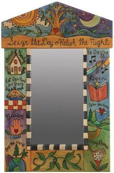 Sticks Small Peaked Mirror Seize the Day Relish the Night Theme