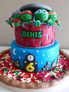 bolo de aniversário tartarugas ninja