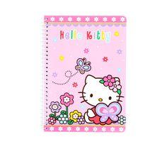 Hello Kitty Spiral Notebok: Patchwork