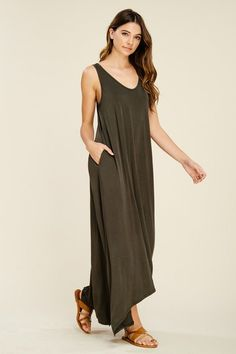 e673f6c21 Melody V-Neck Maxi Dress : Olive – GOZON Boutique Best Sellers, Sale Items