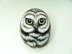 Cute Little Owl  Hand Painted Rock by by PaintedRocksbyShelli