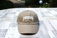 d973796dda0 Khaki YEEZUS baseball hat   Kanye west   Yeezy by CapsWithAttitude