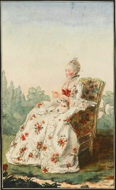Madame de Boissandré, femme de l'écuyer commandant l'écurie de Monsieur le duc d'Orléans by Louis Carrogis (Musée Condé - Chantilly France) Photo - René gabriel Ojéda