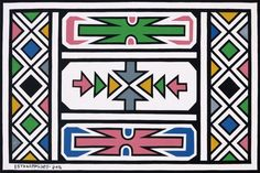 ndebele pattern * ndebele pattern ` ndebele pattern design ` ndebele pattern art ` ndebele pattern template ` ndebele pattern dress ` ndebele pattern black and white ` ndebele pattern beadwork African Artwork, African Paintings, Geometric Artists, African Tattoo, African Theme, South African Artists, Thinking Day, African Diaspora, African Design