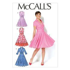 Mccall Pattern M7081 6-8-10-12--Mccall Pattern - make as a wrap dress instead