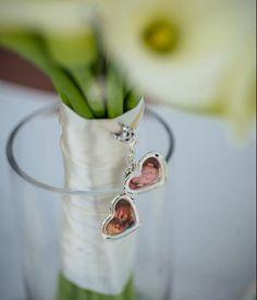 Large Silver Heart Bridal Bouquet Locket by KeepsakesByKatherine