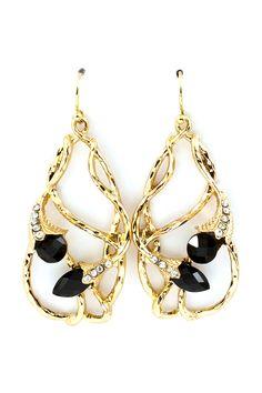 Jet Crystal Lily Earrings | Emma Stine Jewelry Earrings