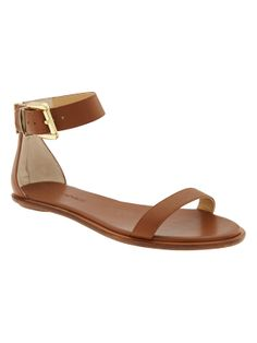 This summer sandal from Banana Republic is so chic - pair it with an all white summer outfit