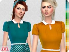 25 recolors - Summer - Spring Found in TSR Category 'Sims 4 Female Everyday'